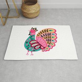 Folk Art Rooster Rug