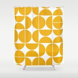 Mid Century Modern Geometric 04 Yellow Shower Curtain