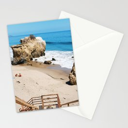 El Matador State Beach Stairs Stationery Cards