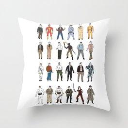 The many faces of Arnold schwarzenegger Throw Pillow