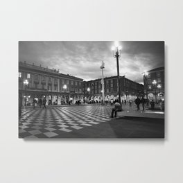 the square in Nice Metal Print