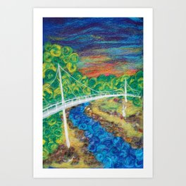 Liberty Bridge 2018 Art Print