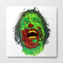 Zombie Friend Metal Print