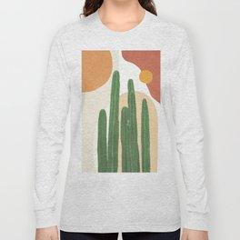 Abstract Cactus I Long Sleeve T-shirt