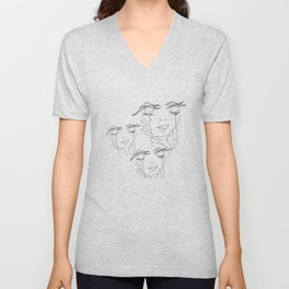 Zen Soul Awakening Abstract Face Art No.4 Unisex V-Neck