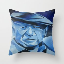 Cubist Portrait of Pablo Picasso: The Blue Period  Throw Pillow