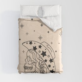 Love or Die Tryin' - Rhinestone Cowgirl Black & Cream Comforters