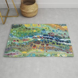 Rainbow Pebbles Acrylic Abstract Rug