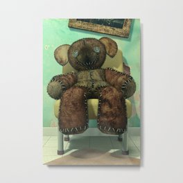 The Old Forgotten Teddy Bear - Still Life Artwork Metal Print