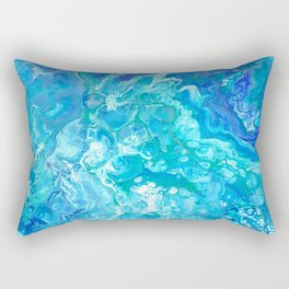 Aqua Ocean Blue Rectangular Pillow