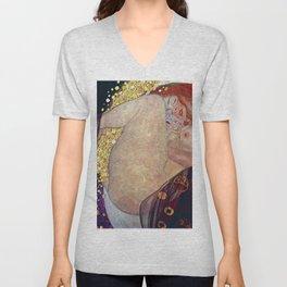 """Gustav Klimt, """" Danae """" Unisex V-Neck"""