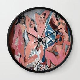 Pablo Picasso - Les Demoiselles d'Avignon 1907 - Artwork for Prints Posters Tshirts Men Women Kids Wall Clock