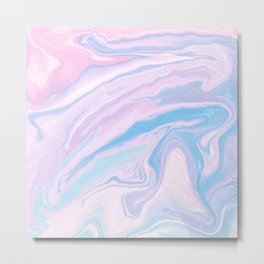 Pastel Unicorn Marble Dream #1 #pastel #decor #art #society6 Metal Print