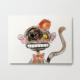 Disturbing Monkey. Metal Print