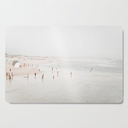 At the Beach (two) - minimal beach series by Ingrid Beddoes Cutting Board