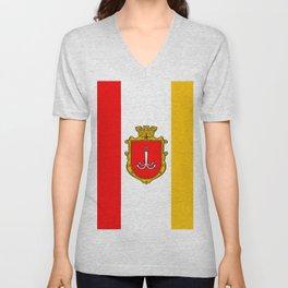 flag of Odessa or odesa Unisex V-Neck