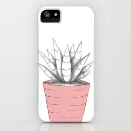 Succulent in Pink iPhone Case