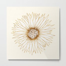 Gold Sunflower Metal Print