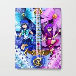 Sailor Mew Guitar #19 - Sailor Mercury & Mew Zakuro Metal Print