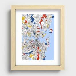 Sydney mondrian Recessed Framed Print