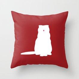 Cat Silhouettes: Scottish Fold Throw Pillow