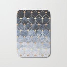 Blue Hexagons And Diamonds Badematte