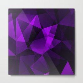 Purple Gemstone Metal Print