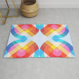 Tugun - Colorful Abstract Art Rug