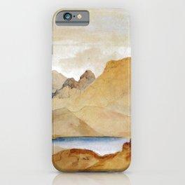 Cinnabar Mountain Yellowstone River Watercolour 1871 By Thomas Moran | Watercolor Reproduction iPhone Case