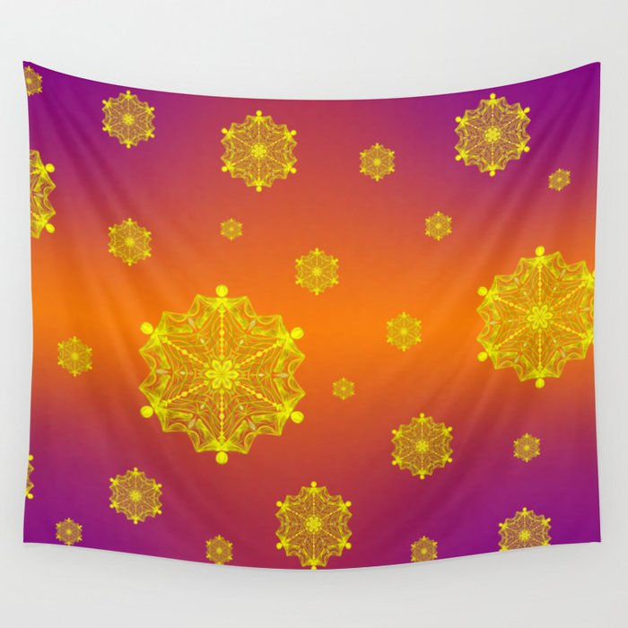 Snowflake Sunset Wall Tapestry