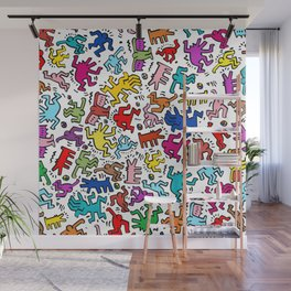 Figures Keith Haring Wall Mural