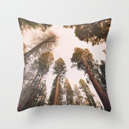Sequoia Sunset Throw Pillow