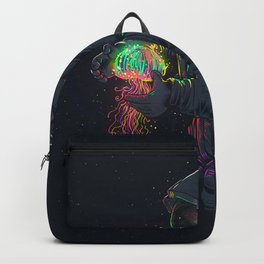 astronaut jellyfish space digital art Backpack