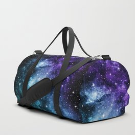 Purple Teal Galaxy Nebula Dream #1 #decor #art #society6 Duffle Bag