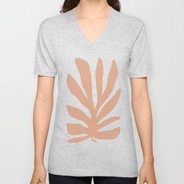 Coral Matisse cutout Unisex V-Neck