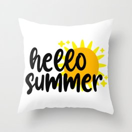 Hello summer Throw Pillow