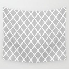 Light Grey Rhombus pattern Wall Tapestry