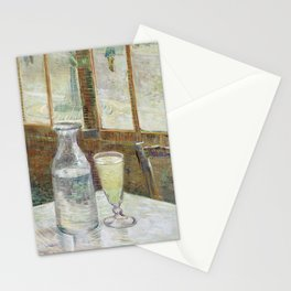 Cafe Table with Absinthe by Vincent van Gogh Stationery Cards