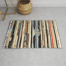 Classic Rock Vinyl Records Rug