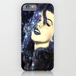 Baby, You're A Star : Navy Blue Galaxy iPhone Case