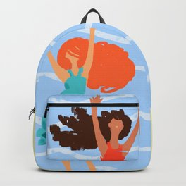 Series: Oil Paint Smears. Summer, sea, friendship. Backpack