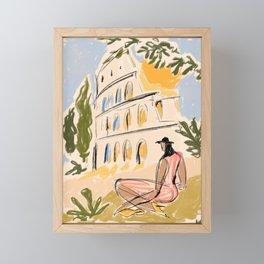 When in Rome Framed Mini Art Print