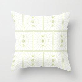 Green Seeing Eye Pattern Throw Pillow