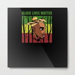 Black Lives Matter Afroamerican King Metal Print