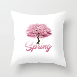 Equinox Springtime Rebirth Regrowth Of Plants Trees Gift Spring Season Throw Pillow