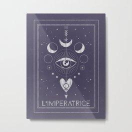 L'Imperatrice or L'Empress Tarot Metal Print