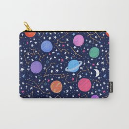 Astrology Zodiac Constellation in Midnight Blue Carry-All Pouch