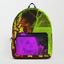 Spooky Halloween Pumpkin and Haunted Barn Backpack