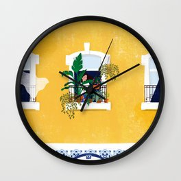 Lisbon girl Wall Clock
