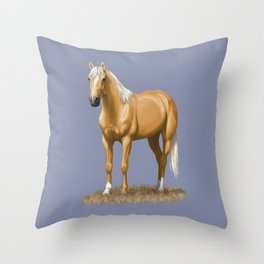 Beautiful Palomino Quarter Horse Throw Pillow